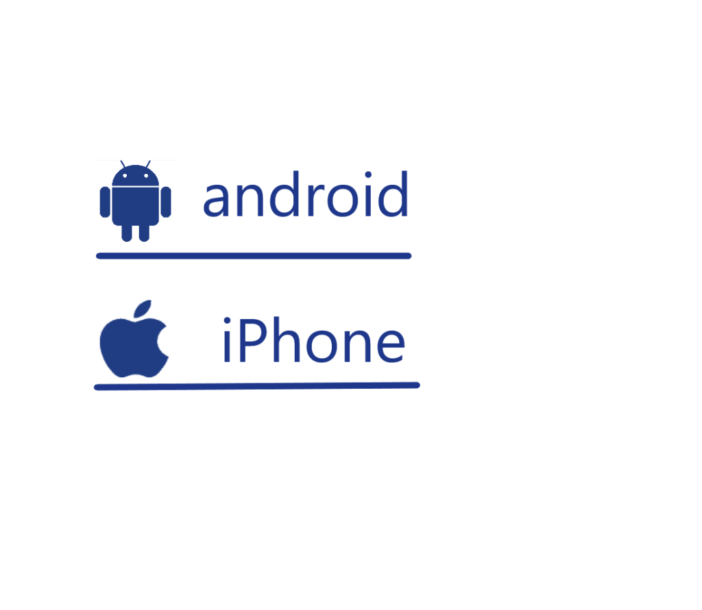 Logos de android e iPhone